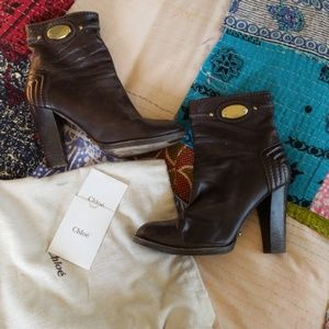 Authentic Chloe ankle boots 38.5